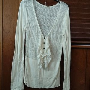 Free people cream lightweight sweater